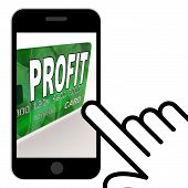 Profit On Credit Debit Card Displays Earn Money