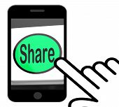 Share Button Displays Sharing Webpage Or Picture Online