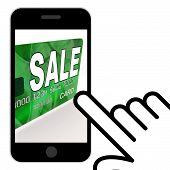 Sale Bank Card Displays Retail Price Reduction