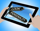 Look Personality Tablet Shows Appearance And Character