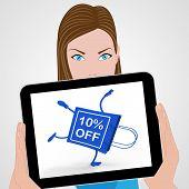Handstand Shopping Bag Displays Sale Discount Ten Percent Off 10