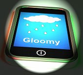 Gloomy On Phone Displays Dark Grey Miserable Weather
