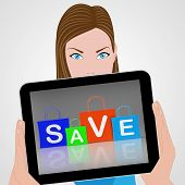 Save Shopping Bags Displays Promo And Buying