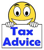 Tax Advice On Sign Shows Taxation Irs Help