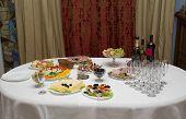 Festive Table In The Interior
