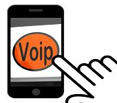 picture of voip  - Voip Button Displaying Voice Over Internet Protocol Or Broadband Telephony - JPG