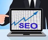 Seo Chart Graph Displays Increase Search Engine Optimization