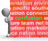 Confusion Word Cloud Sign Means Confusing Confused Dilemma