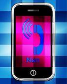 Call Nan On Phone Displays Talk To Grandmother