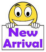New Arrival On Sign Shows Latest Products Collection