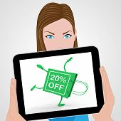Handstand Shopping Bag Displays Sale Discount Twenty Percent Off 20