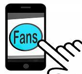 Fans Button Displays Follower Or Internet Fan