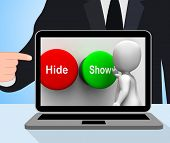 Hide Show Buttons Displays Seek Find Look Discover