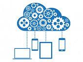 Cloud Computing Flat Concept
