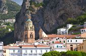 Beautifully decorated saint Andrew cathedral in amalfi, Campania in Italy