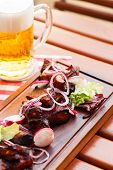 grilled ribs with beer