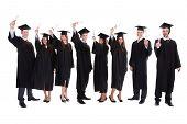 Graduate Students Raising Hands