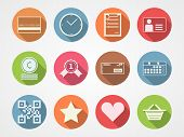 Flat vector icons for internet commerce