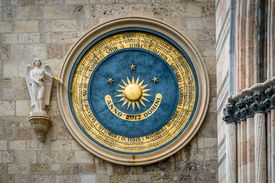 foto of messina  - Ancient eternal cathedral calendar and clock in Messina - JPG