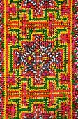 Mola geometrical pattern from Kuna fabric poster