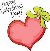 Happy Valentines Day - Freehand Vector Inscription