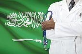 stock photo of saudi arabia  - Concept of national healthcare system  - JPG