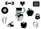 Diet Icons Black
