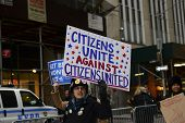 Hand-letter anti-citizens united signs