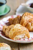 Croissant With Berries Fruit Jam
