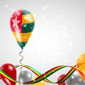 Flag of Togo on balloon