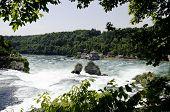 Rhina Falls In Switzerland