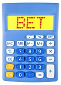 Calculator With Bet