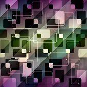 Retro geometric pattern on diagonal strikes background.