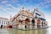foto of under sea  - Basilica di San Marco under interesting clouds Venice Italy - JPG