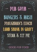 picture of grub  - Chalkboard with  - JPG