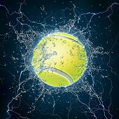 image of olympiad  - Tennis Ball on Water - JPG