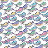 Colorful whale pattern