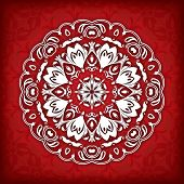 Abstract vector circle floral ornamental border. Vector ornamental border frame. Can be used for banner, web design, wedding cards and others