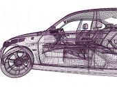 3d car model on white background