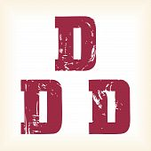 Grunge vector D letter
