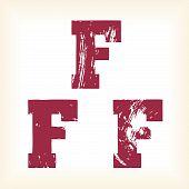 Grunge vector F letter
