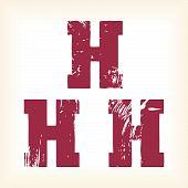 Grunge vector H letter