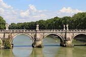 Beautiful View Of Rome Bridge Of Angels
