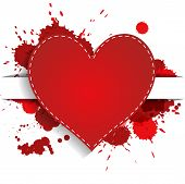 Heart With Red Splashes