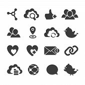 Set Of Vector Social Network Icons.