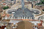 Beautiful Panorama Of Vatican, Italy