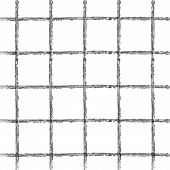 stock photo of cross-hatch  - seamless pattern in gray cell graphic abstract - JPG