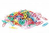 A colorful paper clip against