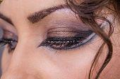 foto of ruddy-faced  - Female eye - JPG