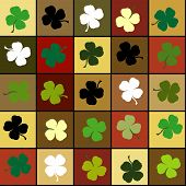 Shamrock Squares Background